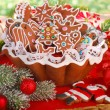 Homemade gingerbread cookies for christmas tree — Stock Photo