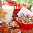 Milk and cookies for santa — Stock Photo #37029253