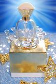 Perfume for christmas — Stock Photo