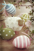 Easter decoration in vintage style — Foto Stock