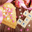 Stock Photo: Valentine love declaration