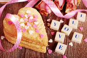 Valentine love declaration — Stock Photo
