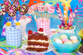 Sweets for children birthday party — Stock Photo