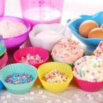 Baking cupcakes — Stock Photo #42251685