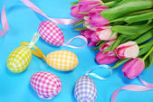 Easter decoration in pastel colors — Stock Photo