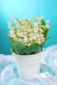 Bunch of fresh lily of the valley — Stock Photo