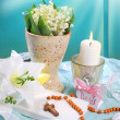 The first holy communion still life — Stock Photo
