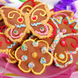 Butterfly and flower shaped gingerbread cookies — Stock Photo #49307555