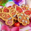 Butterfly and flower shaped gingerbread cookies — Stock Photo #49307721