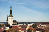 Panoramic view on the Old City of Tallinn — Stock Photo