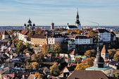 Panoramic view on the Old City of Tallinn — Stockfoto