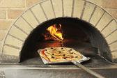 Anchovies pizza — Stock Photo