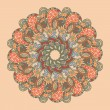 Vector retro ornamental round lace pattern - Imagen vectorial