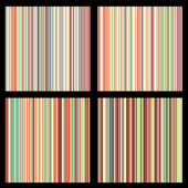 Set of striped seamless patterns — Stock Vector
