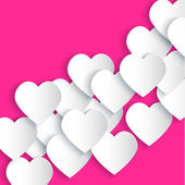 Paper hearts background — Stock Vector
