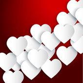 Papper hjärtan bakgrund — Stockvektor