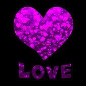 Hart en liefde tekst — Stockvector