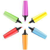 Set of realistic colored markers — Stock Vector