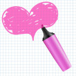 Heart drawn using a marker — Stock Vector #6312478