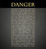 Danger — Stock Vector