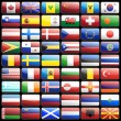 Flag icons — Vector de stock