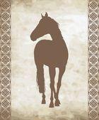 Sfondo con cavallo — Vettoriale Stock