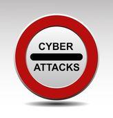 Cyber attacks — Stock Vector