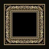 Vintage vector gold frame — Stock Vector