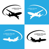 Airplane symbol vector design — Stock Vector