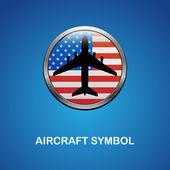 アメリカ国旗を持つ機体シンボル — ストックベクタ