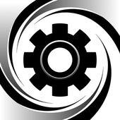 Máquina de movimiento concepto del engranaje — Vector de stock