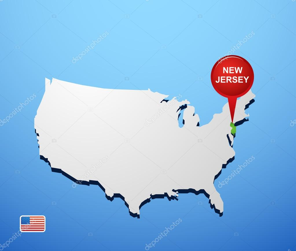 Elizabeth New Jersey Wikipedia Physical Map Of New Jersey Ezilon - New jersey on us map