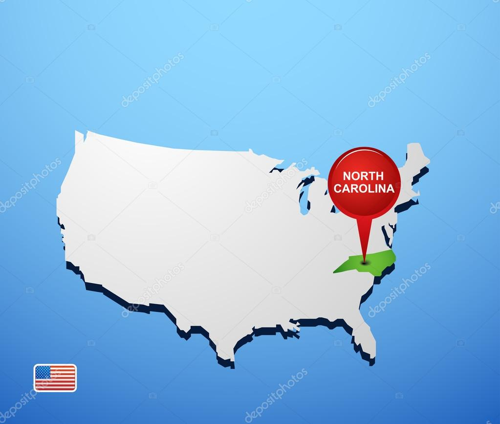 North Carolina State Maps USA Maps Of North Carolina NC Major - North carolina on usa map