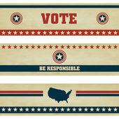 Voting Symbols vector set banner design — Stock Vector