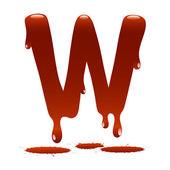 Letter W in the form of current liquid paint — Vecteur