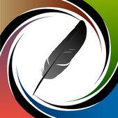 Fond de vecteur plume plume calligraphique — Vecteur