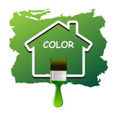 House Color Vector — Stock vektor