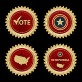 Voting Symbols vector design presidential election — Stock Vector