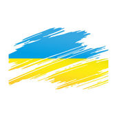 Flag Ukraine in the form traces brush — Vecteur