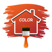 House Color Vector — Stockvektor