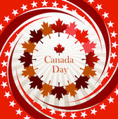 Canada Day vector background — Stock Vector