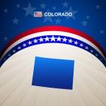Colorado map vector background — Stock Vector