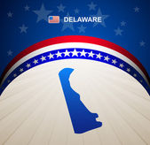 Delaware map vector background — Stock Vector