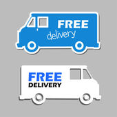 Illustration of icons free delivery — Stok Vektör