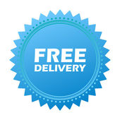 Illustration of icons free delivery — ストックベクタ