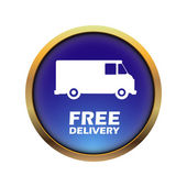 Illustration of icons free delivery, vector — ストックベクタ