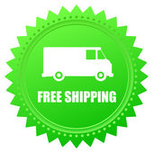 Illustration of icons free shipping — Stok Vektör