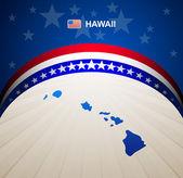 Hawaii map vector background — Stock Vector