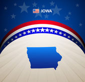 Iowa map vector background — Vector de stock