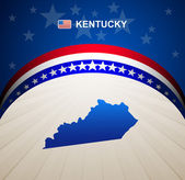 Kentucky map vintage vector background — Stock Vector